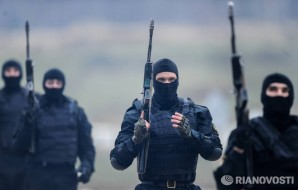 Elite members of the Russian FSB near Sochi, Russia.
