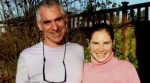 Amanda Knox with Dr. Greg Hampikian.