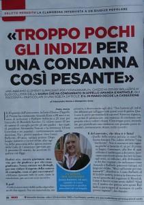 OGGI magazine article discussing Amanda Knox and Raffaele Sollecito juror