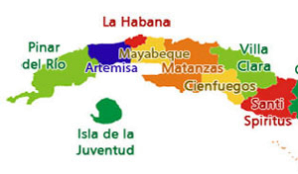Map of  Cuba's Mayabeque province-Wikipedia Commons