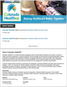 Colorado HealthOP LinkedIn