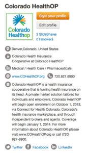 Colorado HealthOP SlideShare