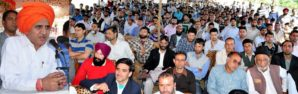 DY CM addressing Education Conf at Budgam-