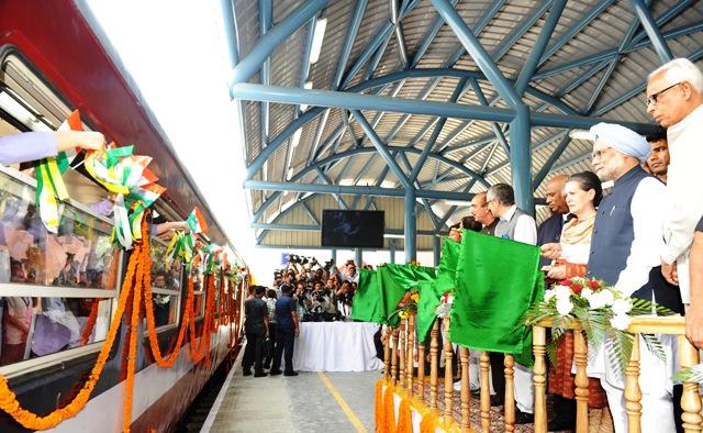 Banmihal-Qazigund train flagged off by PM