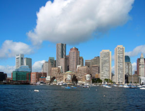 General view of downtown Boston skyline- Wikipedia Commons