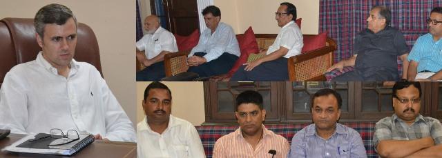 JK CM Omar Abdullah meeting with Members of Chambers of Commerce-Scoop News