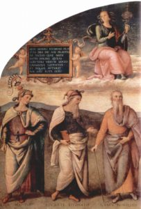 "From ""Prudence and Justice with Six Antique Wisemen"" by Pietro Perugino"