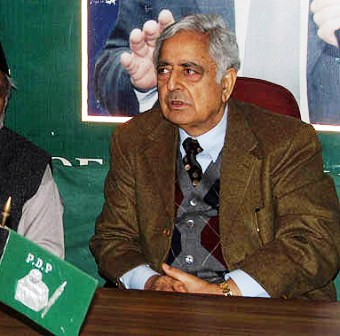 PDP Chief Mufti syed File photo