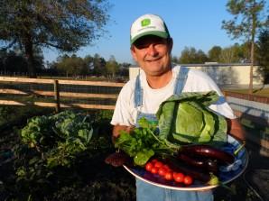 Dr. Edward Kondrot's Organic Garden located at his Healing The Eye & Wellness Center