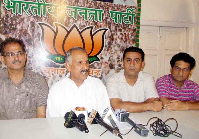BJP former State President Shamsher Singh Manhas ADDRESSING PRESS CONFERENCE -Scoop News