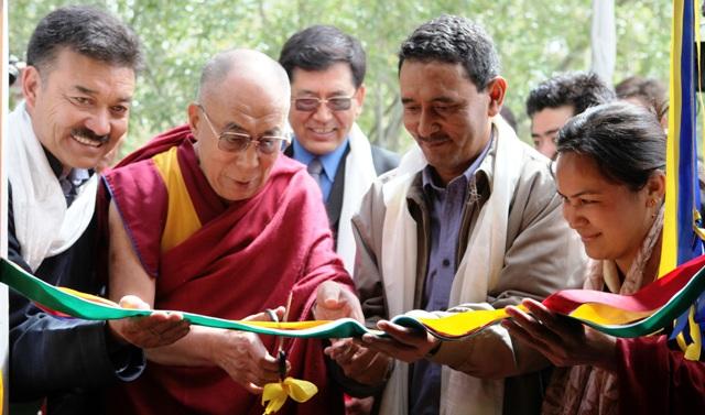 Buddhist Spiritual Leader Dalai Lama in Leh inaugurating Kwp SPV Power Plant -Scoop News