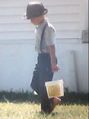 Amish boy in Lancaster, Pennsylvania. Photo by Robert Tilford 2001.