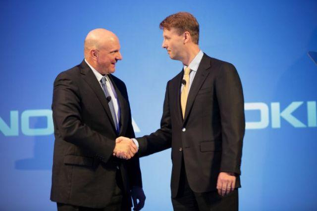 Nokia & Microsoft Senior officials siilasmaa & ballmer at press conference
