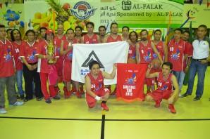 Alumaco receives their trophy for Most Organized Team award