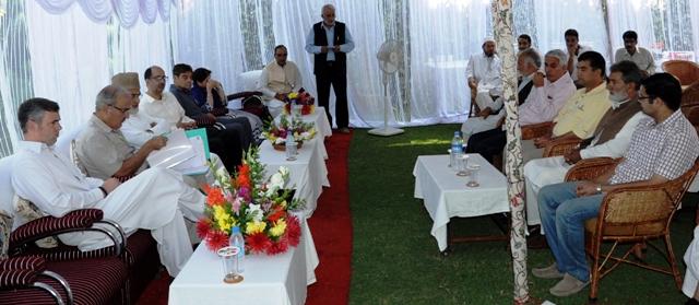 JK CM addressing the NC office bearers-Scoop News