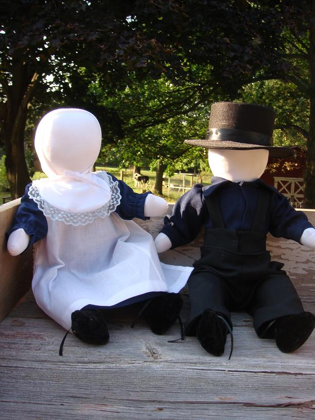 Amish dolls have no faces!