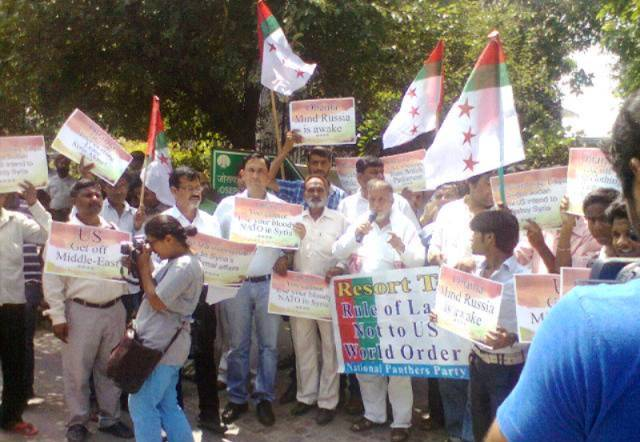 NPP activists stage protest at UN Hqrs.-Scoop News