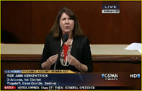 """""""Mr. Speaker, the United States Fish and Wildlife Service recently published notice of two proposed rules"""", said Rep. Kirkpatrick of Arizona."""