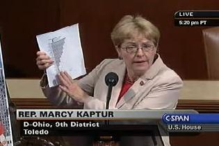 """""""Mr. Speaker, the majority leader and the Tea Party Caucus have been railing against providing sufficient SNAP funding that provides food to the hungry. This is certainly not something to be proud of. I have never understood making scapegoats out of the most vulnerable Americans"""", said Rep. Kaptur."""