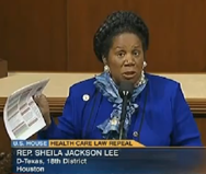 """I hope the Republicans can listen and understand that it is always the other person's interests that should be promoted and put first. That is to say, this Nation must fund itself and we must pay our bills"", said Rep. Jackson Lee on Saturday."