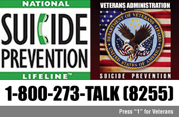 Suicide Prevention Ad being promoted by the Veterans Administration.