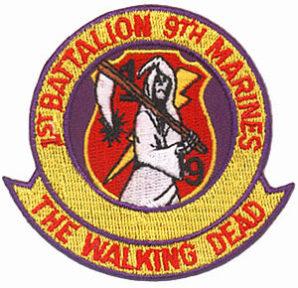 1st Bat. 9th Marine insignia.