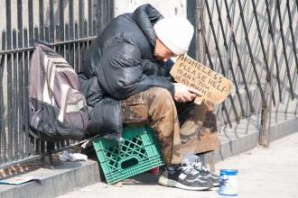 A homeless man literally weeps after begging hundreds of passers -by for help. Congress has no idea or clue what it is like to live in extreme poverty in America. What it is like to beg for money (OK they do know how to do that), or what it means to be hungry.