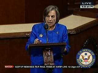 """""""Americans can go to healthcare.gov, or in Illinois, where I'm from, getcoveredillinois.gov - to get help signing up for healthcare"""", said Rep. Schakowsky."""
