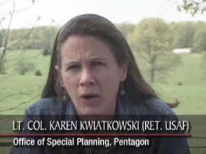 """We've used white phosphors, we have stood by and even provided the white phosphors, for the Israelis against the Palestinians. Well, most Americans are not really aware of this or not thinking about this, it's certainly not reported in American news.."", Kwiatkowski said in an interview with the ""Voice of Russia"" broadcast."