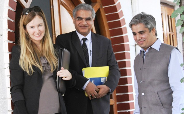 Tanvir Sadiq,Pol. Secy to CM with US Diplomats-Scoop News