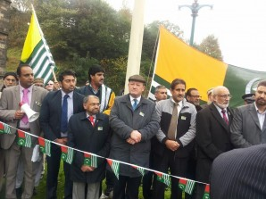 Simon Danczuk MP and Councillors at Kashmir National Day Ceremony 2013