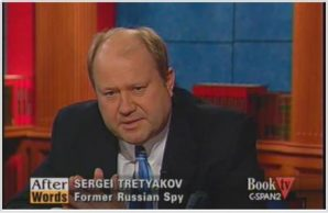 """Spymaster, defector, double agent-  Sergei Tretyakov in 2009 speaking on his book """"Comrade J"""" was denounced by the SVR as a traitor in an official press release dated 2008."""