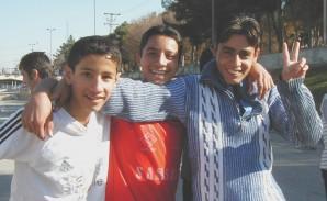 Iranian soccer players in Tehran.