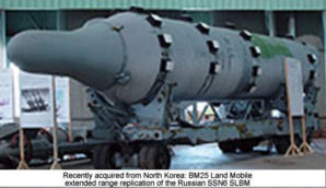 Iran acquired eighteen BM25 land-mobile missiles with launchers from North Korea which can strike not only Israel but targets in Europe as well/ (photo: courtesy of CIA intelligence source).