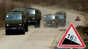 Russian transport vehicles speed there way to sites housing Chemical weapons for the long journey back to seaports to Danish ships who will eventually hand over the weapons to US ships at sea for destruction under UN mandate.