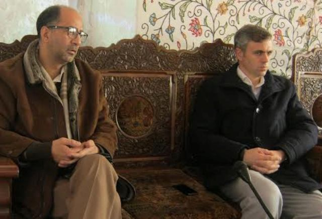 Chief Minister, Omar Abdullah and Provincial President Mr Nisar