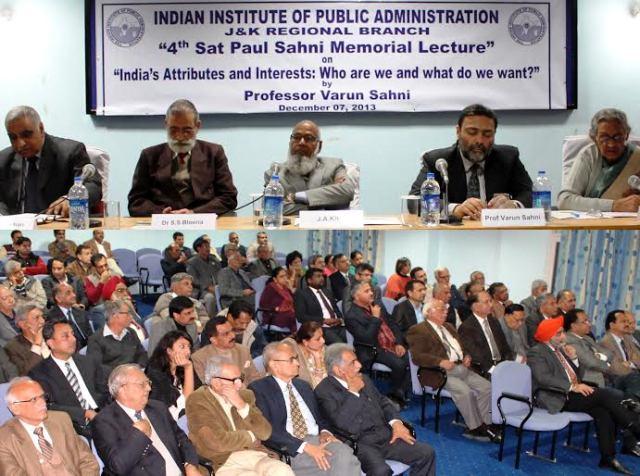 IIPA J&K organizes 4thSatpalSahni Memorial Lecture