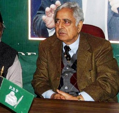 patron of Peoples Democratic Party (PDP) Mufti Mohammad Sayeed