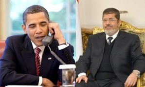 "President Obama congraduates Morsi on winning the election in Egypt as well pledging billions in military and economic aid to that country. ""President Obama spoke with President Morsi to reaffirm the strong support of the United States to the Egyptians, when they continue their transition to democracy,"" said the White House said in a statement."