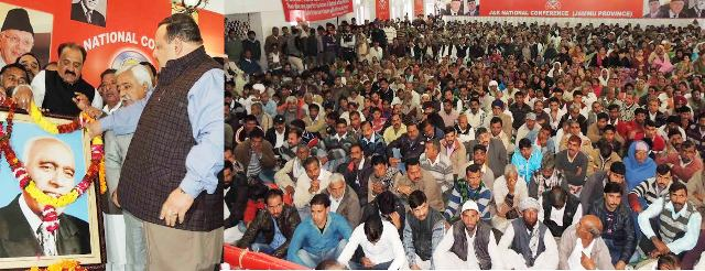 Provincial President National Conference Devender  Rana while addressing