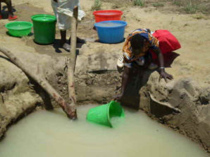 Contaminated water well in Tanzania.