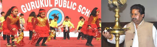 JK Minister Raan Bhalla inaugurating an Annual Day function of K C Public School,