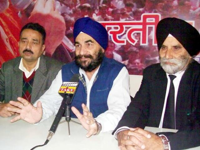 Sikh leaders addressing press conference