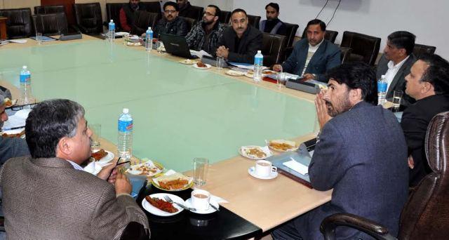 JK Ministers Ghulam Ahmad Mir & Sajad Ahmad Kichloo in a meeting