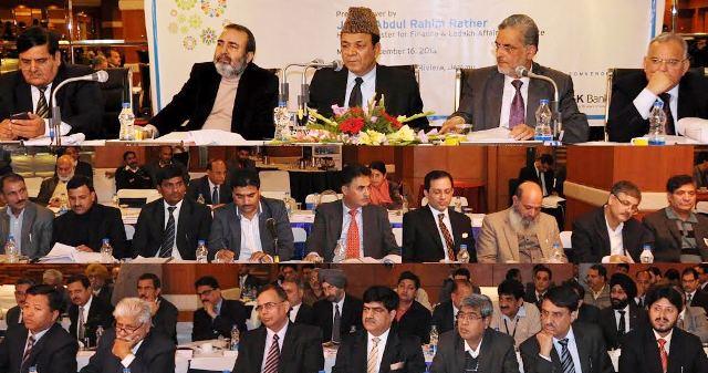 JK finance minister Chairing 91st SLBC meeting at Jammu