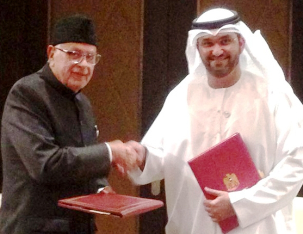 Dr Farooq, UAE Minister sign MoU