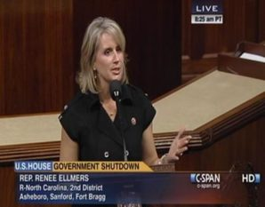 """Congresswoman Renee L. Ellmers was described as """"smoking hot."""" by Army colonel who admitted he masturbated 3 times within two hours after meeting with her."""