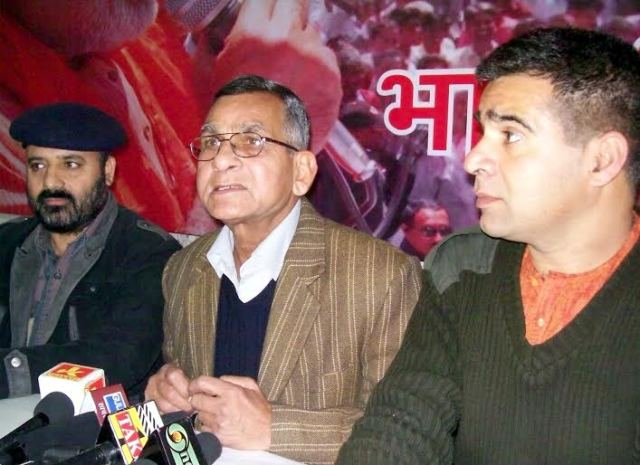BJP Leaders addressing a Press conference