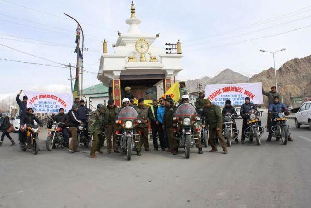 Traffic awareness week observed in Leh Ladakh