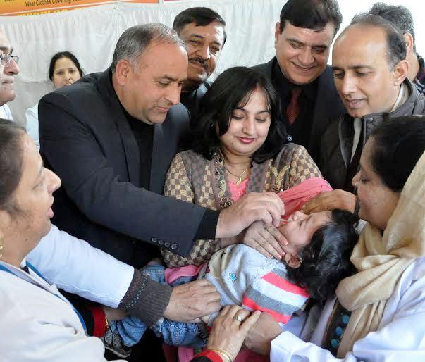 JK Minister launches pulse polio immunization campaign